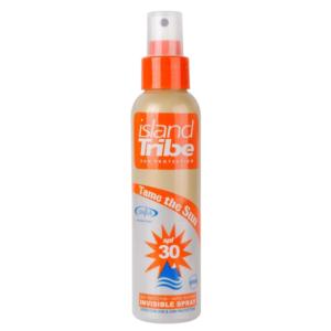 island Tribe Sun Protection clear gel spray SPF 30 is transpiratie en waterbestendig